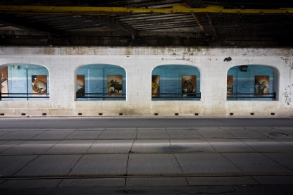 Under the Leslieville CP bridge
